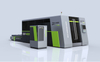 Enveloping double-platform laser cutting machine for cutting thick plates