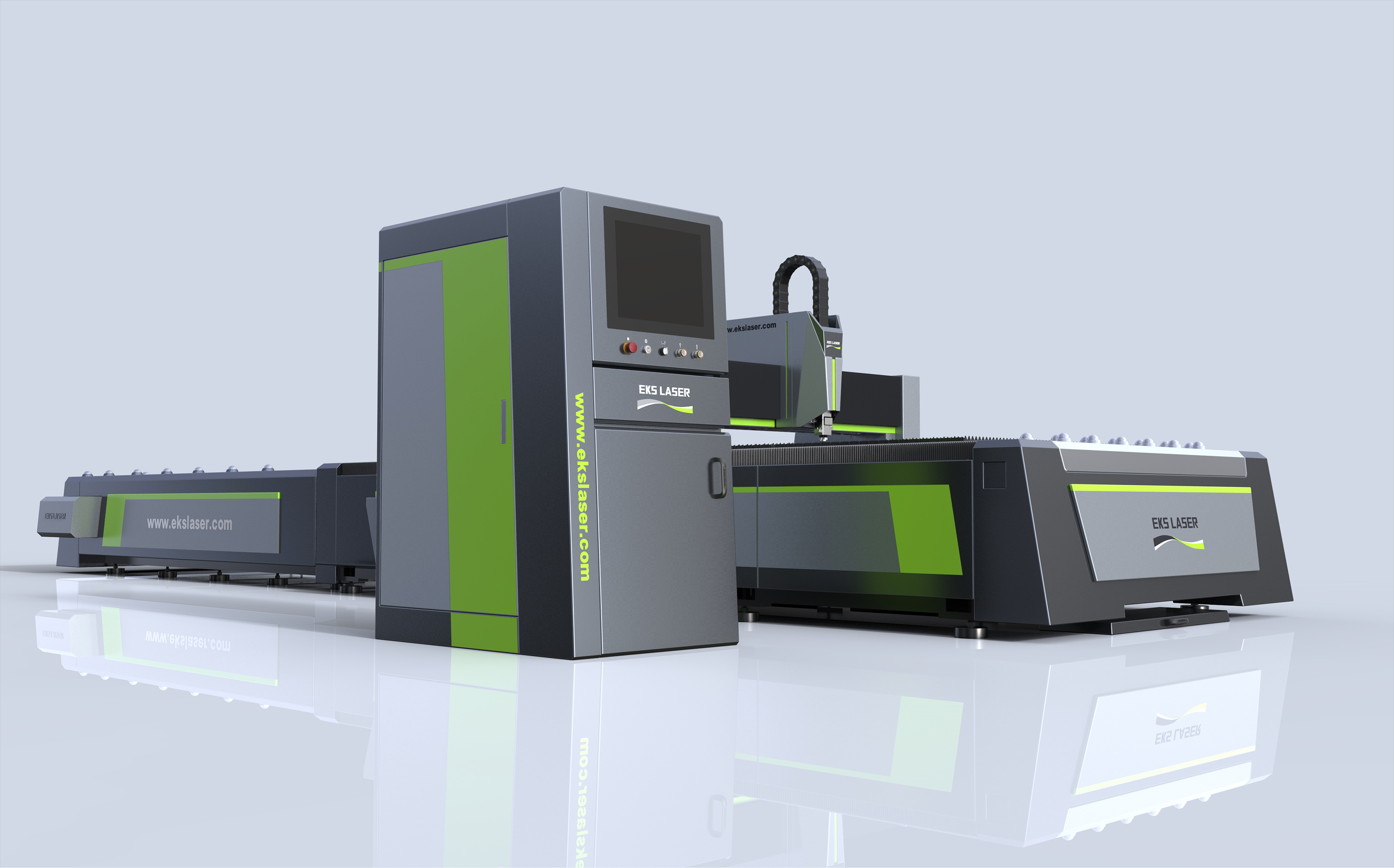 Stable large-format interchangeable tabletop metal laser cutting machine