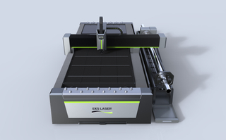 High-power fiber laser cutting machine for plate and tube dual purpose