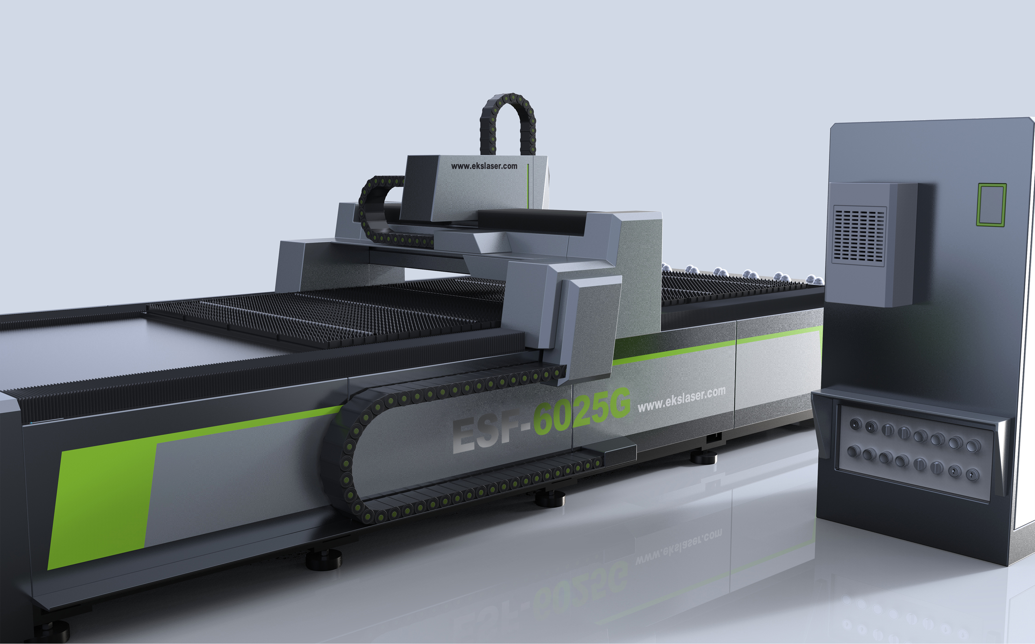 Large format stainless steel CNC laser cutting machine